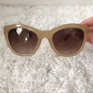 ANTHROPOLOGIE ETT TWA Oversized Tan Sunglasses
